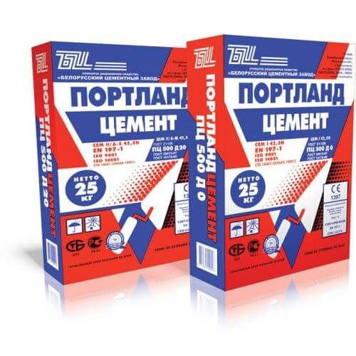 Белорусский цемент М500 D0 (без добавок, без примесей)