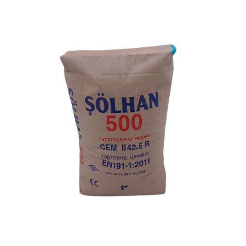 Турецкий цемент М500 Solhan, 25 кг СЕМ І 42,5R