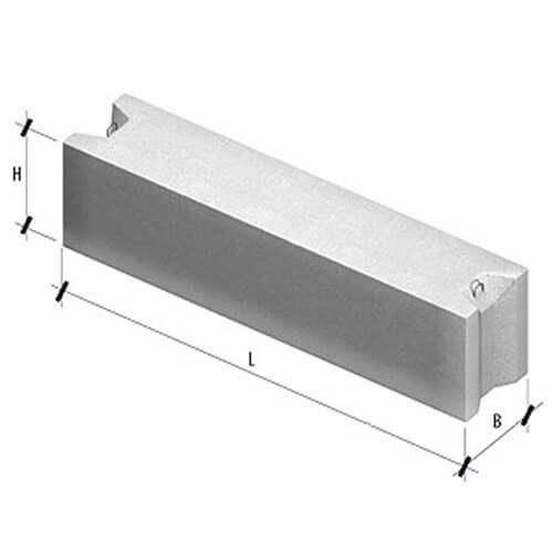 ФБС 9.3.6Т B12.5 (880х300х580 мм) фундаментный блок