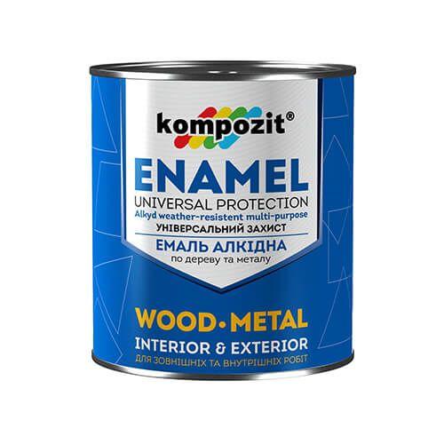 Алкидная эмаль ПФ 115 Kompozit (белая матовая краска) 12 кг