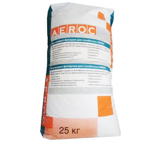 Фасадная штукатурка для газобетона Aeroc