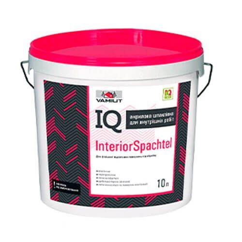 Акриловая финишная шпаклевка IQ InteriorSpachtel 10л (Vamiut)