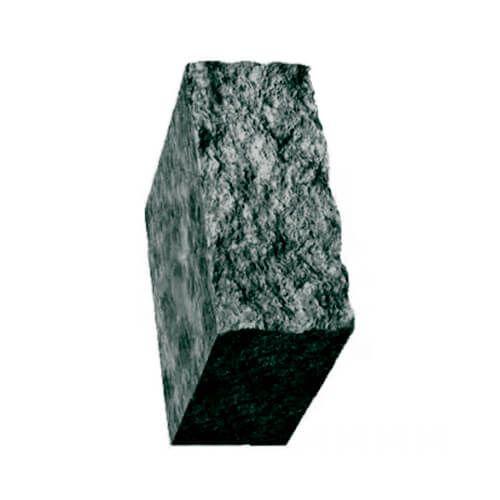 Столбик декоративный черный с мрамором 500х175х150 Золотой Мандарин