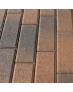Тротуарная плитка-кирпич Латина (210х70х60) Золотой Мандарин