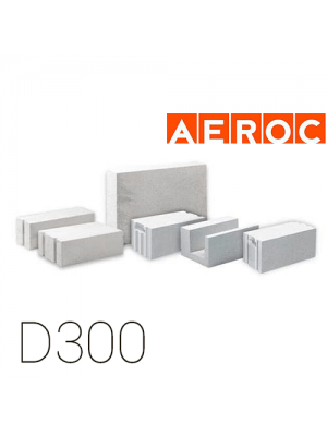 Газоблок Aeroc D300 610мм (Березань)