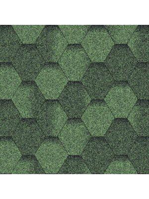 Битумная черепица Акваизол Мозаика зелёная ЭКО