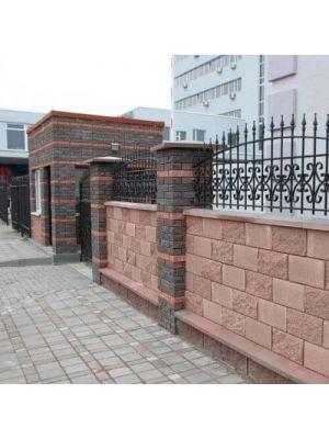 Блок парканний порто 190х190х190мм СБ-ПРН-Ц-ЛРБ Авеню (пустотілий)