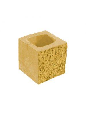 Блок парканний сахара 190х190х190мм СБ-ПРН-Ц-ЛРБ Авеню (пустотілий)