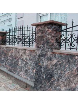 Блок парканний арабіка 390х190х190мм СБ-ПРН-Ц-ЛРБ Авеню (пустотілий)