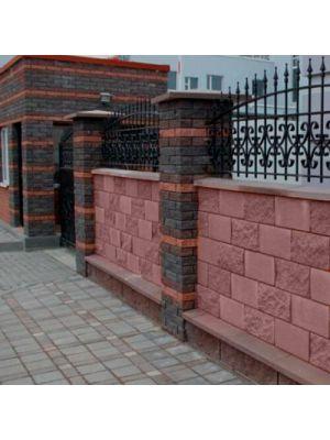 Заборний бетонний блок венге 390х190х190мм СБ-ПРН-Ц-ЛГ Авеню (пустотілий)