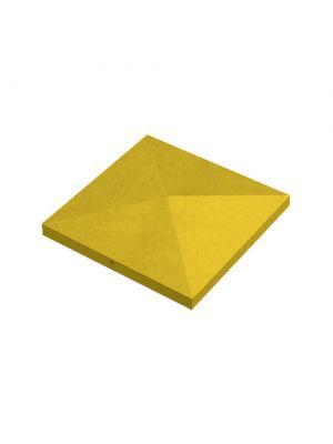 Бетонная крышка для забора сахара 480х480х90мм Авеню (полнотелая четырехскатная конусная)