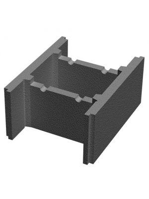 Бетонный блок несъемной опалубки 400х235х500 Золотой Мандарин