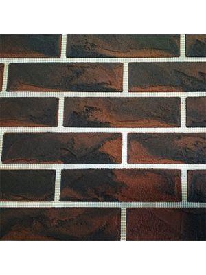 Гибкий кирпич «IN-BRICK» № 103 коричневый с шоколадным подпалом