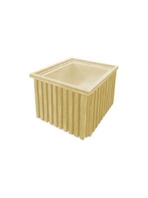 Клумба Форест квадратная 900х900х680, ваниль Золотой Мандарин