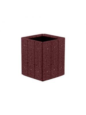 Цветочница Глянец квадратная 530х530х600, бордо полированная Золотой Мандарин