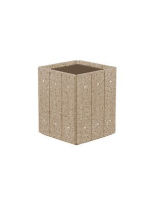 Цветочница Глянец квадратная 530х530х600, мергелис полированная Золотой Мандарин