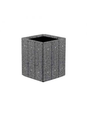 Цветочница Глянец квадратная 530х530х600, шедоу полированная Золотой Мандарин