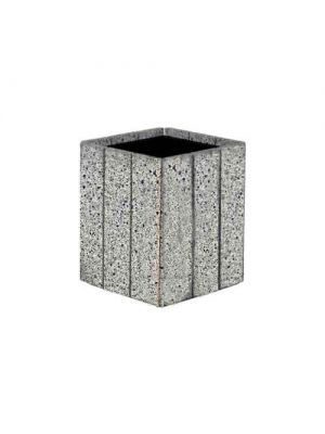 Цветочница Глянец квадратная 530х530х600, вайт полированная Золотой Мандарин