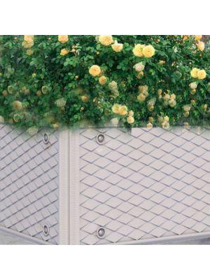 Цветочница Глория кубическая светло-серая, коллекции Барселона Золотой Мандарин