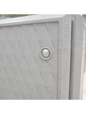 Квітник Глорія квадратний світло-сірий, колекції Барселона Золотий Мандарин