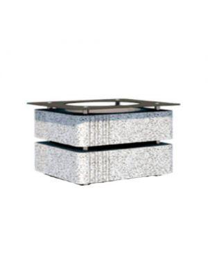 Цветочница Модерн квадратная 560х560х400, белая полированная Золотой Мандарин