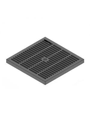 Крышка к дождеприемнику К-28.28-ПП PolyMax Basic пластиковая черная