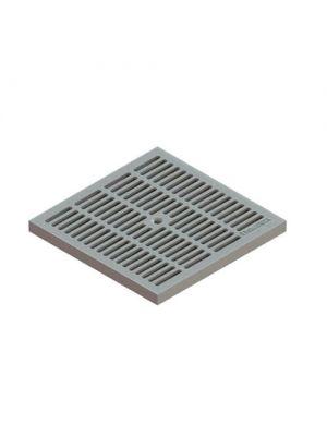 Решетка к дождеприемнику 28.28 PolyMax Basic ячеистая пластиковая серая