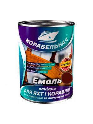 Эмаль алкидная Корабельная коричневая 0,9 кг (краска ПФ-115)
