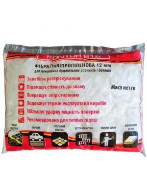 Фибра полипропиленовая KONTUR-В12, 0,9 кг (для стяжки, бетона)