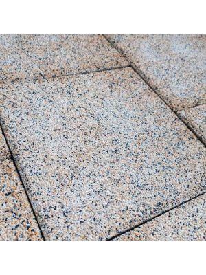 Тротуарная плитка Плита 400х400х60мм эйвори меланж Золотой Мандарин