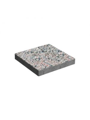 Тротуарная плитка Плита 400х400х60мм бисер меланж Золотой Мандарин