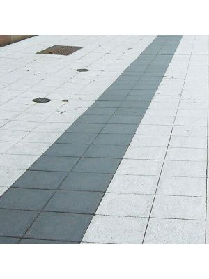 Тротуарная плитка Плита 400х400х60мм белая Золотой Мандарин