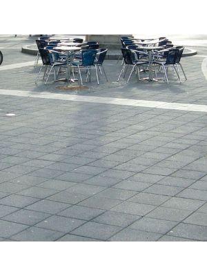 Тротуарная плитка Плита 400х400х60мм без фаски серая Золотой Мандарин