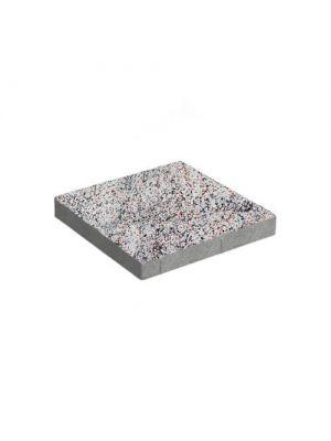 Тротуарная плитка Плита 400х400х60мм без фаски грейс-амбер Золотой Мандарин