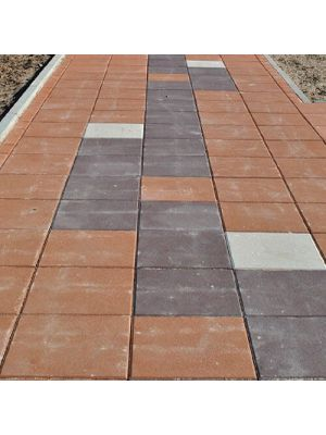 Тротуарная плитка Плита 400х400х60мм без фаски коричневая Золотой Мандарин