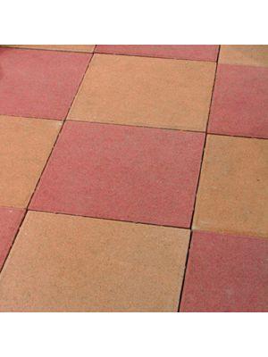 Тротуарная плитка Плита 400х400х60мм красная Золотой Мандарин