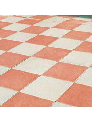 Тротуарная плитка Плита 400х400х60мм без фаски красная Золотой Мандарин
