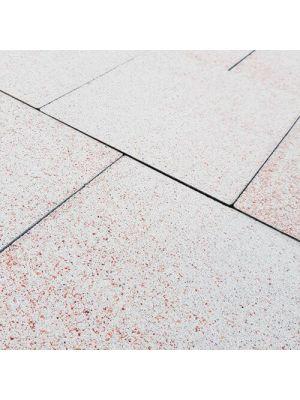 Тротуарная плитка Плита 400х400х60мм без фаски белый-мадженто Золотой Мандарин