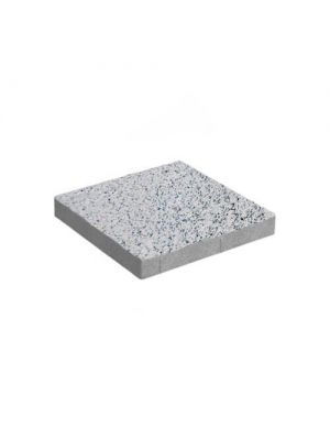Тротуарная плитка Плита 400х400х60мм без фаски белый-визе Золотой Мандарин