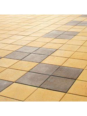 Тротуарная плитка Плита 400х400х60мм без фаски желтая Золотой Мандарин