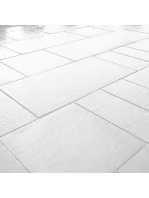 Тротуарна плитка Гранд Кив під природний камінь 590х590х60мм бьянко Золотий Мандарин