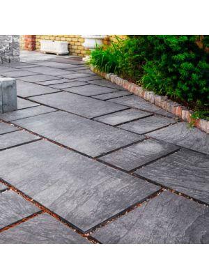 Тротуарна плитка Гранд Кив під природний камінь 590х290х60мм гранж Золотий Мандарин