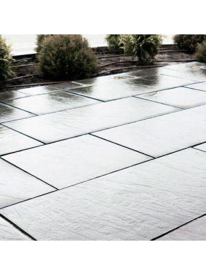 Тротуарна плитка Гранд Кив під природний камінь 1180х590х60мм сільвер-антик Золотий Мандарин