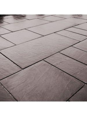 Тротуарна плитка Гранд Кив під природний камінь 590х290х60мм сільвер Золотий Мандарин