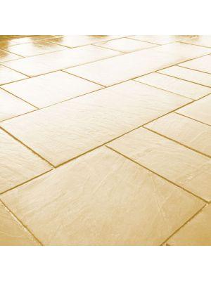 Тротуарна плитка Гранд Кив під природний камінь 590х290х60мм ваніль Золотий Мандарин