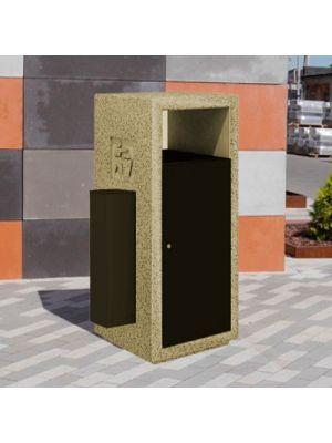 Урна Соло, мергелис полированная пепельницей Золотой Мандарин