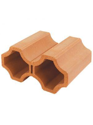 Декоративный керамический блок Heluz Винный (250x160x330)