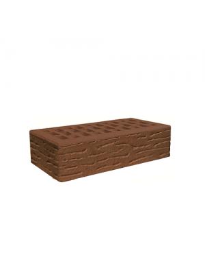 Клинкерный кирпич Евротон Милан (коричневый) рифленый