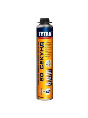 Клей пена быстрого схватывания 60 СЕКУНД Tytan STD, 750 мл
