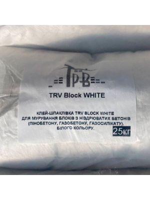 Белый клей-штукатурка для газобетона TRV Block White, 25 кг